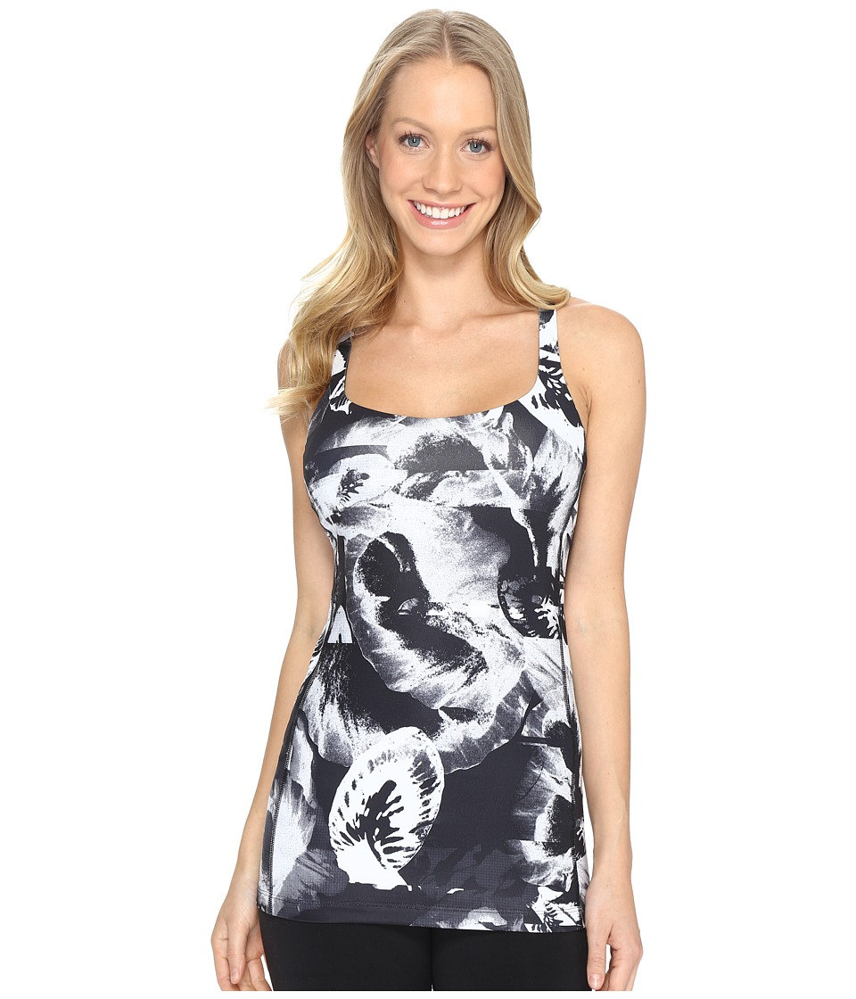 Lucy - Let It Be Bra Tank Top (Lucy Black Abstract Floral Print) Women's Workout