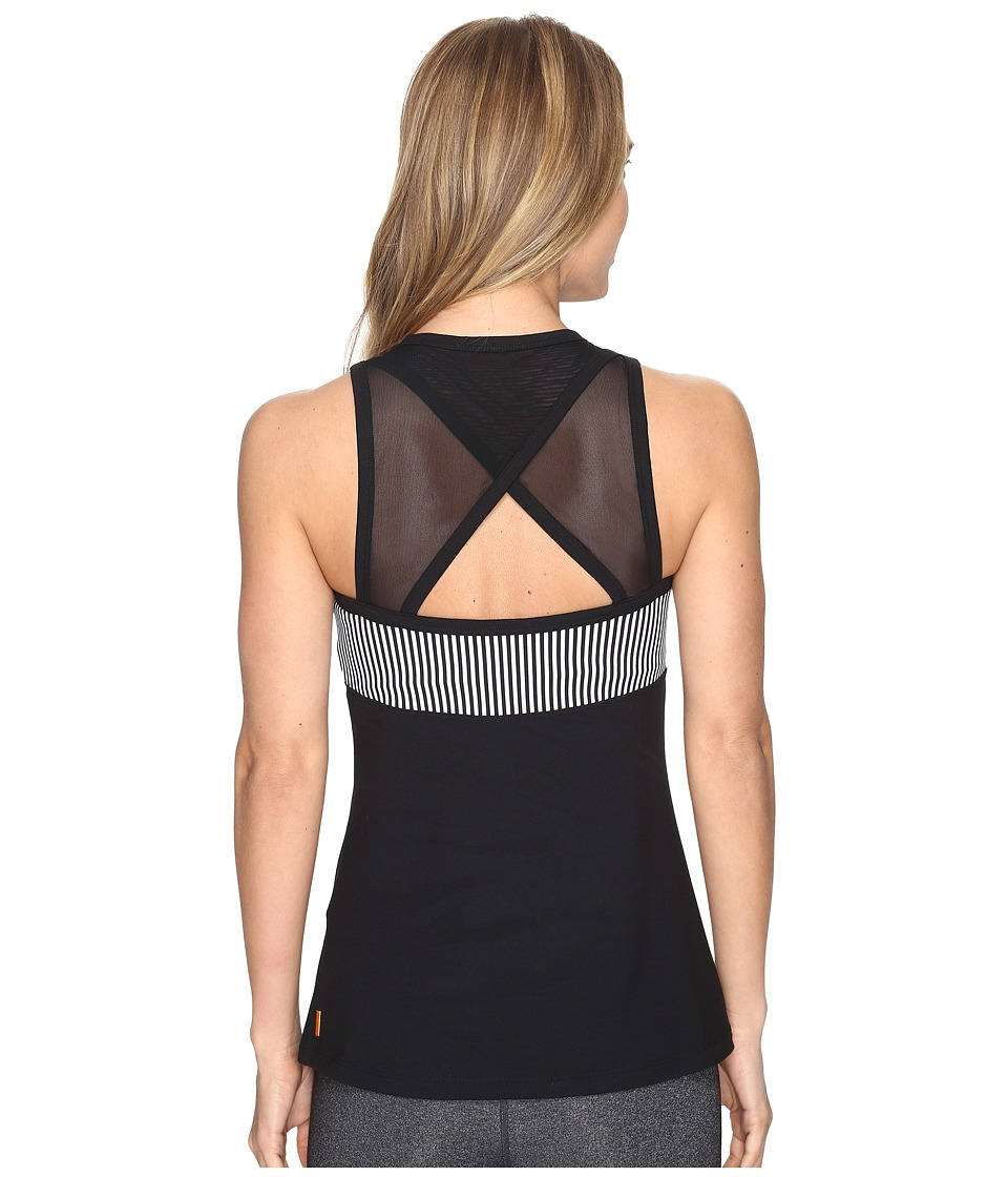 Lucy - Balance Makes Perfect Bra Top (Lucy Black/Lucy Black/Lucy White Stripe) Women's Workout