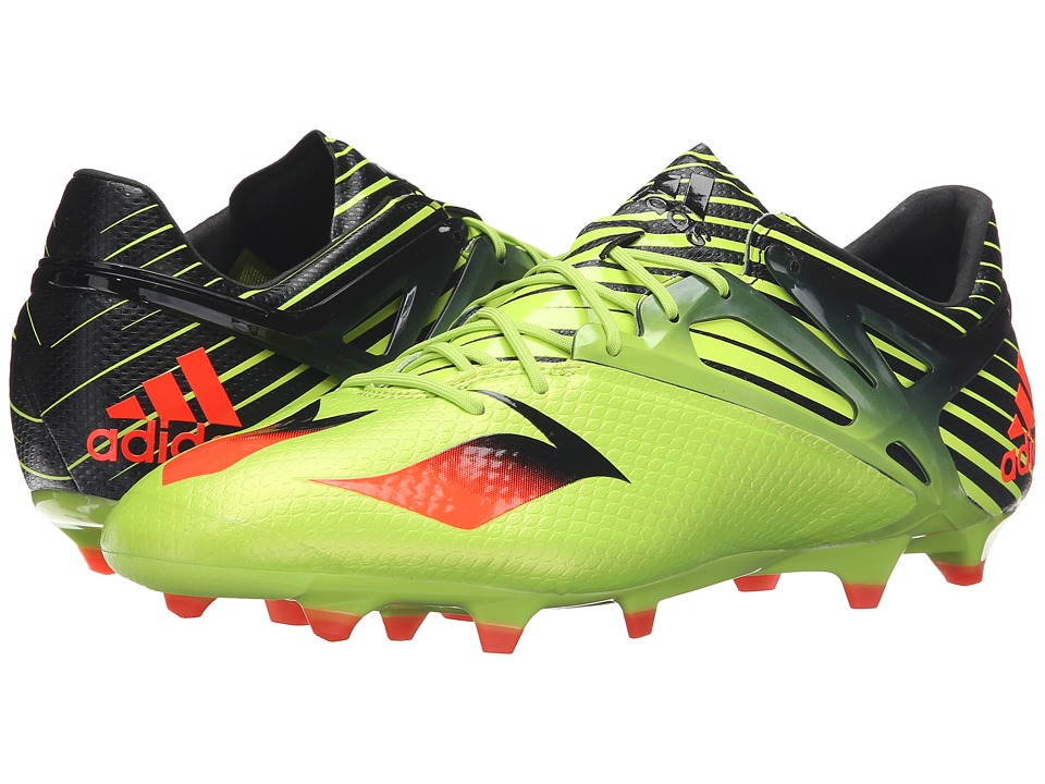 adidas - Messi 15.1 (Semi Solar Slime/Solar Red/Black) Men's Shoes