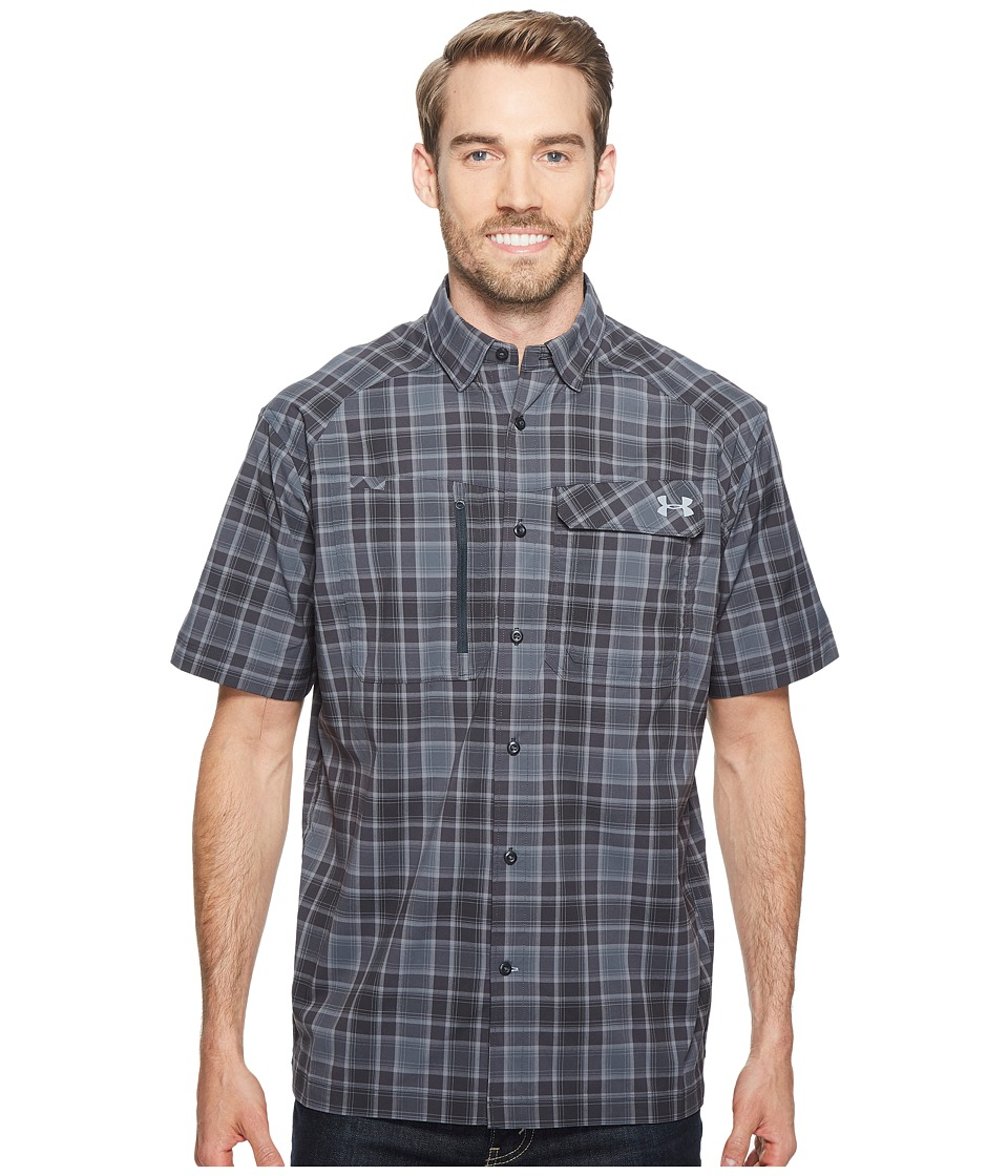 Under Armour - UA Fish Hunter Short Sleeve Plaid Shirt (Anthracite/Steel) Men's Short Sleeve Button Up