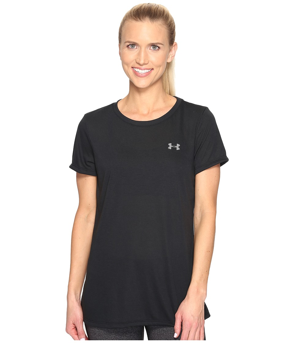 Under Armour - Threadborne Train Short Sleeve Crew Neck (Black) Women's Clothing