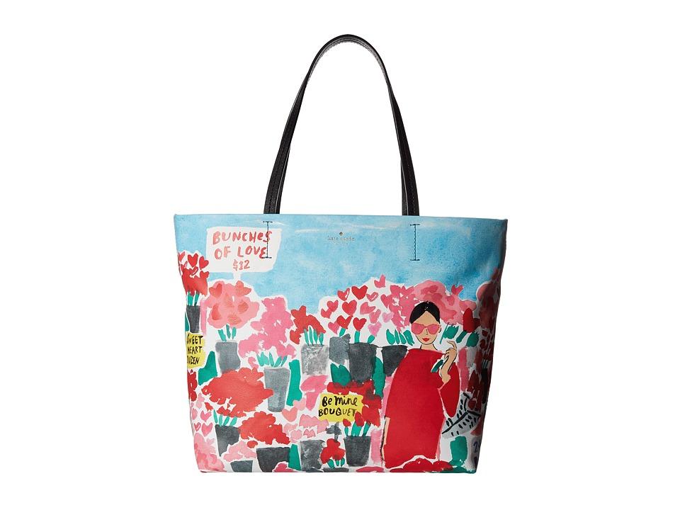 Kate Spade New York - Be Mine Rose Market Hallie (Multi) Handbags