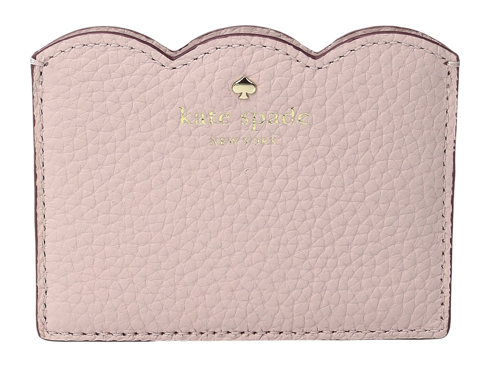Kate Spade New York - Leewood Place Card Holder (Pink Granite) Wallet