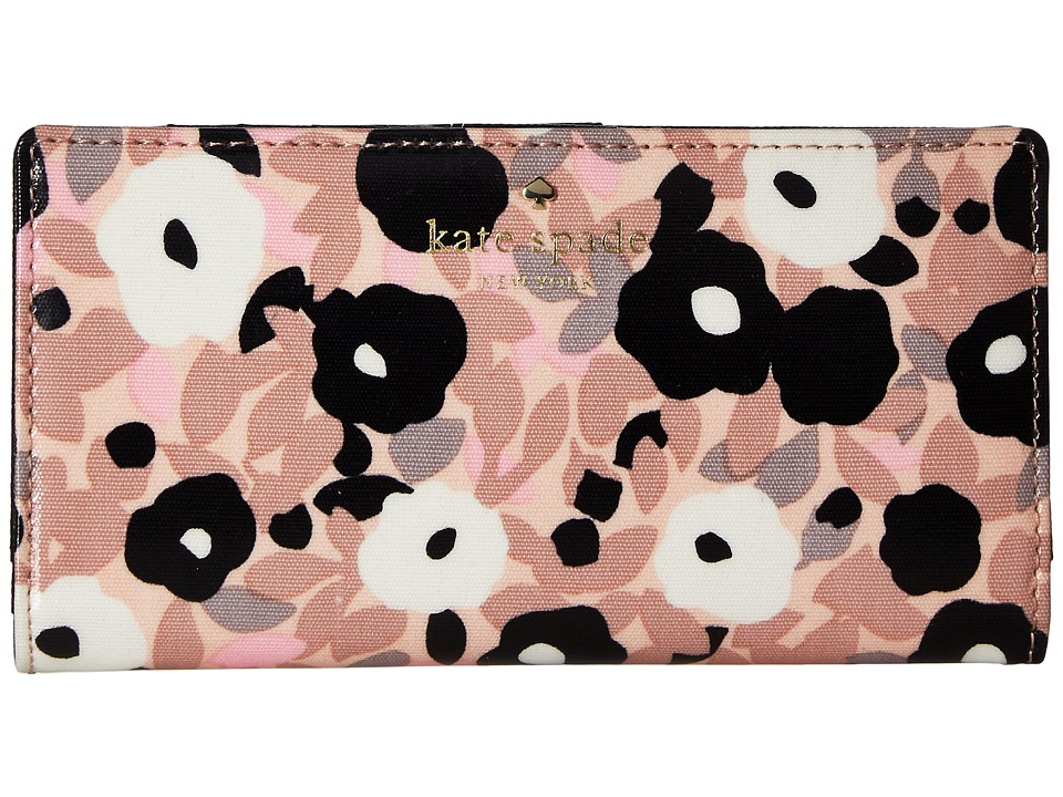 Kate Spade New York - Cedar Street Floral Stacy (Light Au Natural) Checkbook Wallet