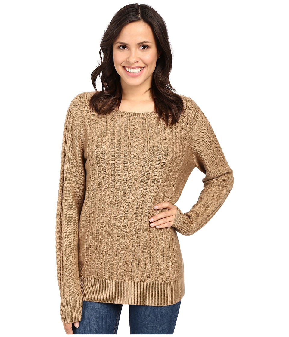 Pendleton - Connie Cable Pullover (Camel) Women's Sweater
