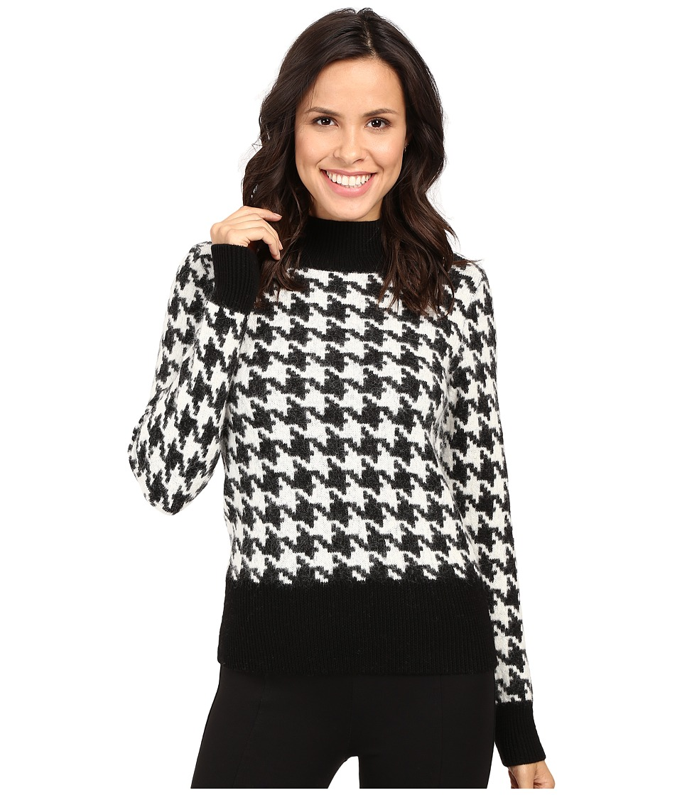 Pendleton - Houndstooth Pullover (Black/Ivory) Women's Clothing