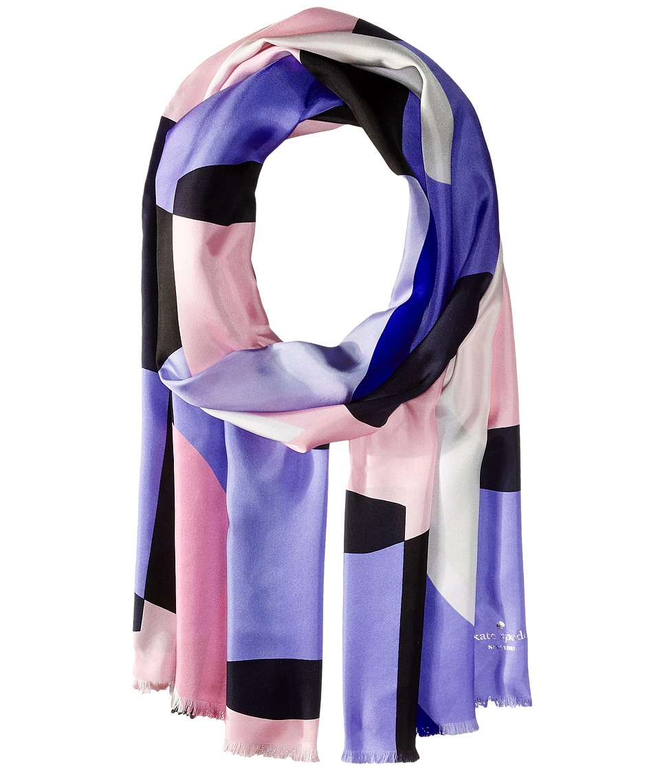 Kate Spade New York - Limelight Silk Oblong Scarf (Black) Scarves