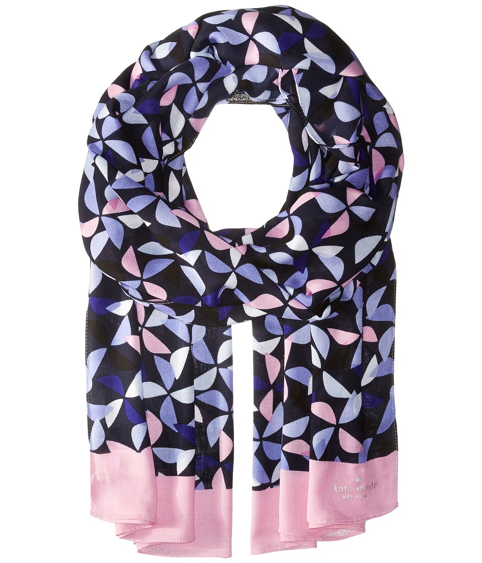 Kate Spade New York - Spinner Oblong Scarf (Nightlife Blue) Scarves