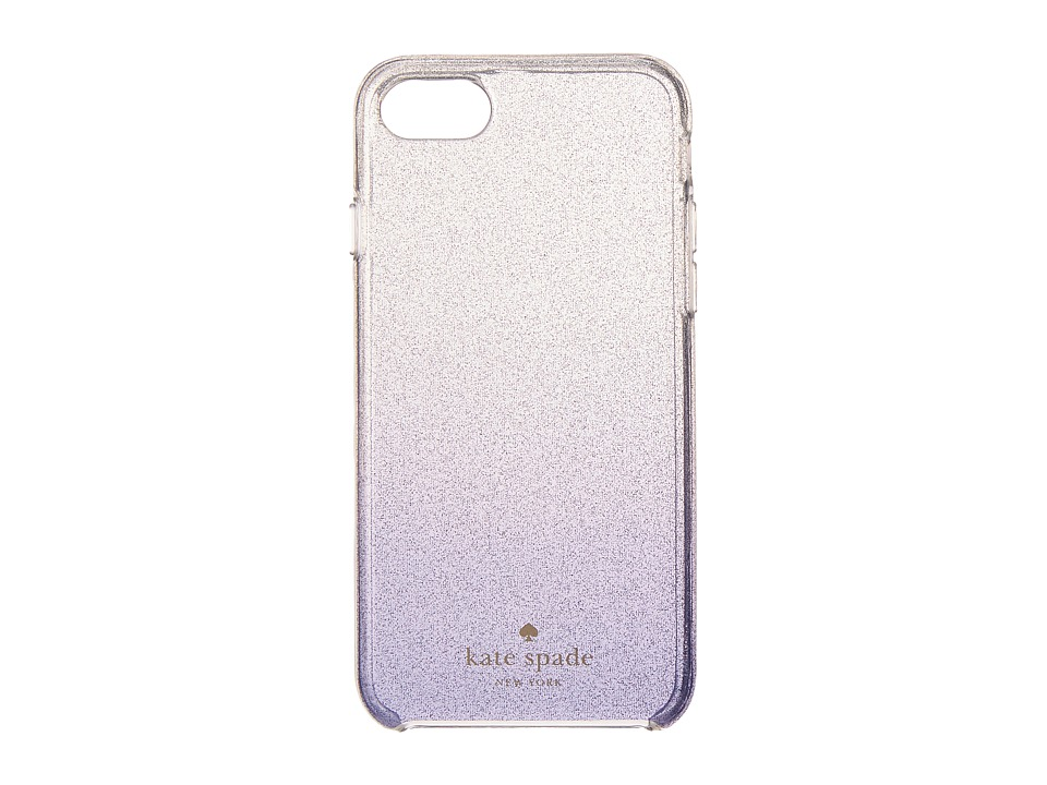 Kate Spade New York - Clear Glitter Ombre Phone Case for iPhone 7 (Nightlife Blue) Cell Phone Case