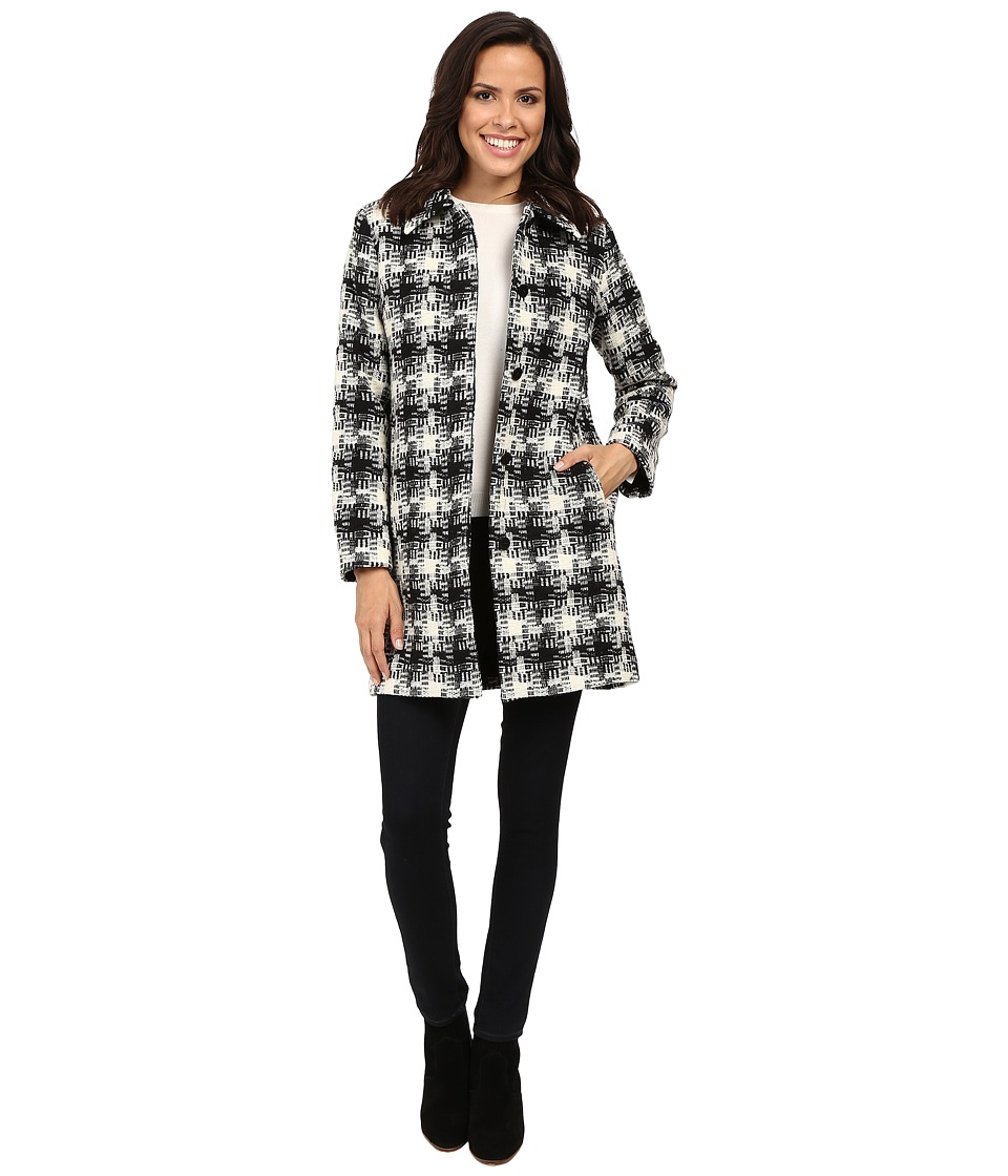 Pendleton - Doreen Coat (Black/Ivory Check Coating) Women's Coat