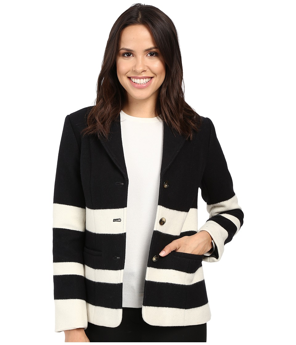 Pendleton - Skyline Stripe Jacket (Black/Vanilla Stripe Jacquard) Women's Coat