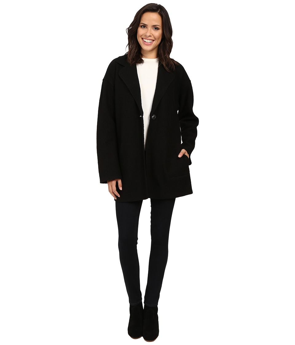 Pendleton Candice Boiled Wool Cardigan (Black) Women