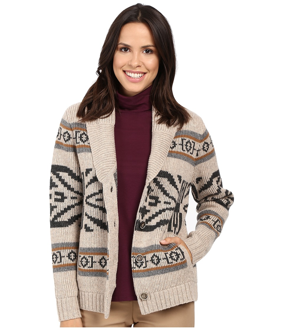 Pendleton - Westward Cardigan (Natural Heather Multi) Women's Sweater