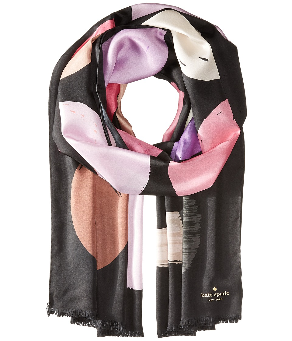 Kate Spade New York - Makeup Palette Oblong Scarf (Black) Scarves