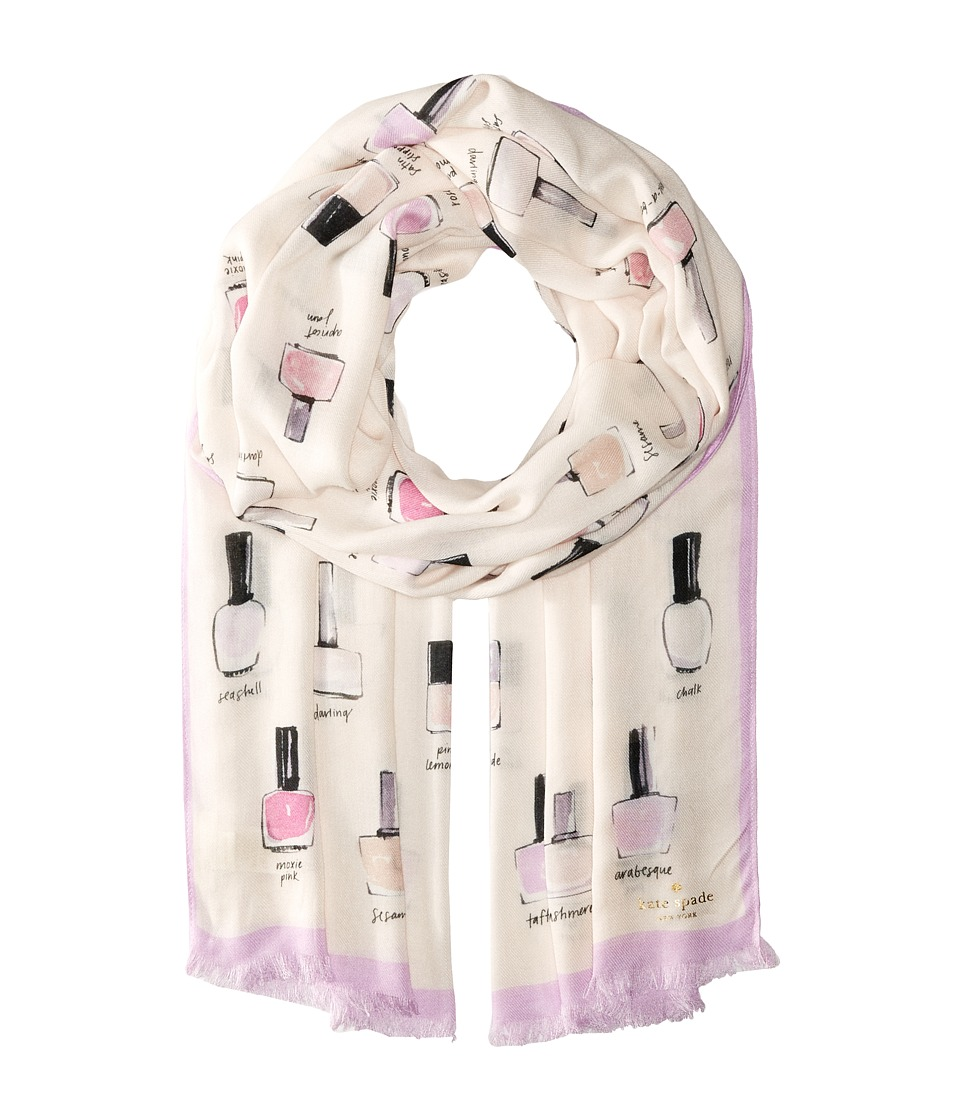 Kate Spade New York - Nail Polish Oblong Scarf (Cream) Scarves