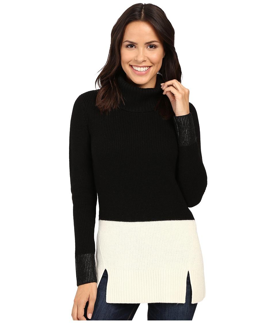 Pendleton - Color Block Tunic (Black/Ivory) Women's Sweater