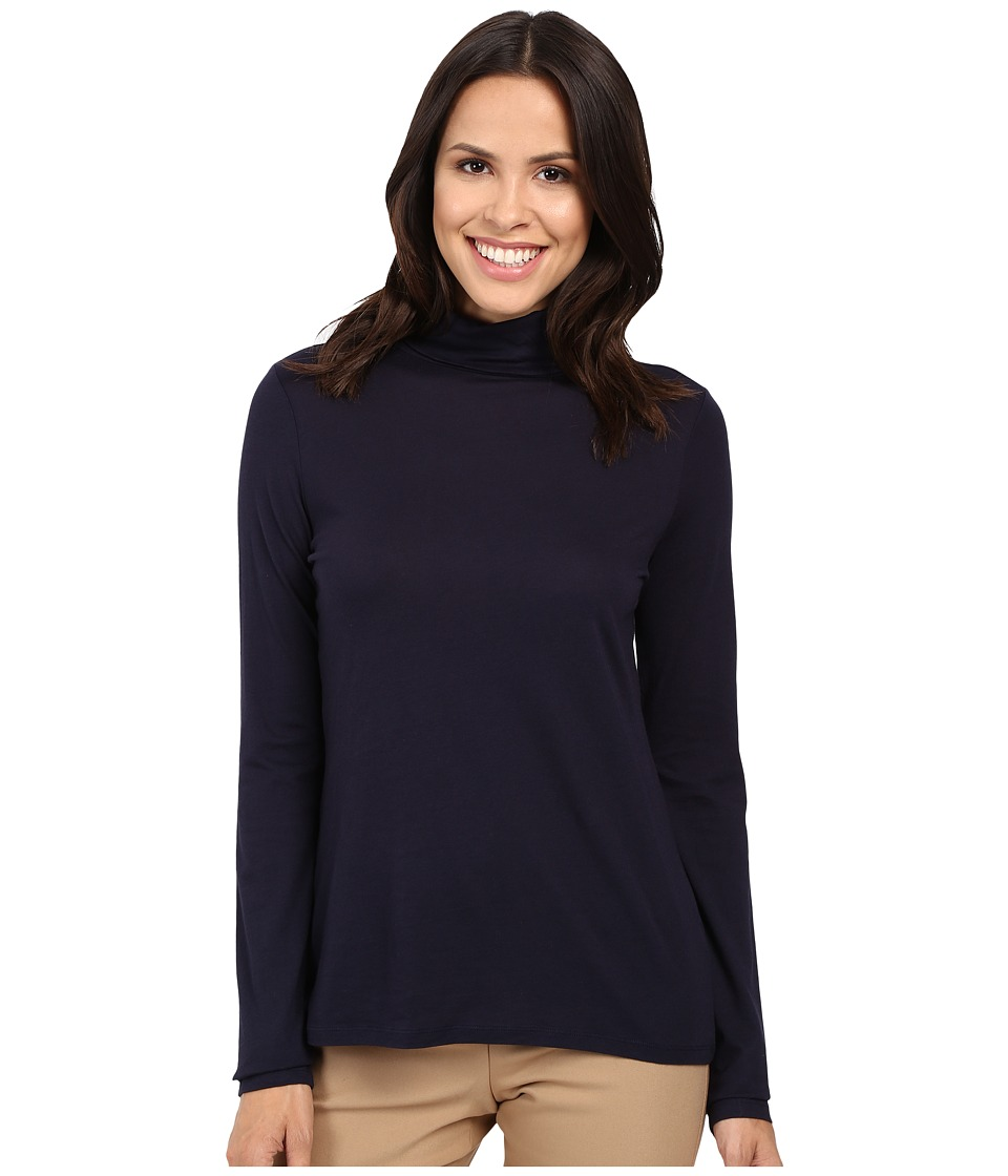 Pendleton - Long Sleeve Mock Neck Tee (Midnight Navy) Women's T Shirt