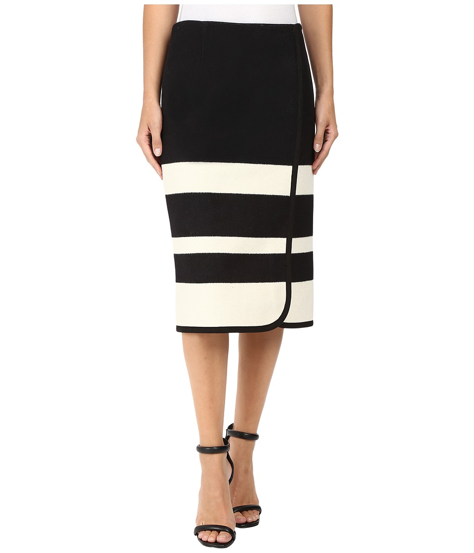 Pendleton - Skyline Stripe Skirt (Black/Vanilla Stripe Jacquard) Women's Skirt