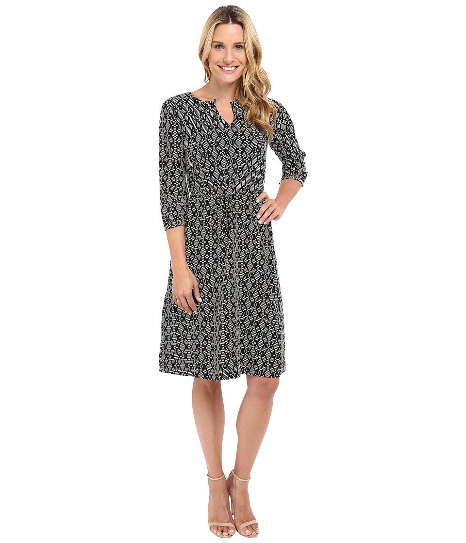 Pendleton - City Shift Dress (Black/Ivory Print) Women's Dress