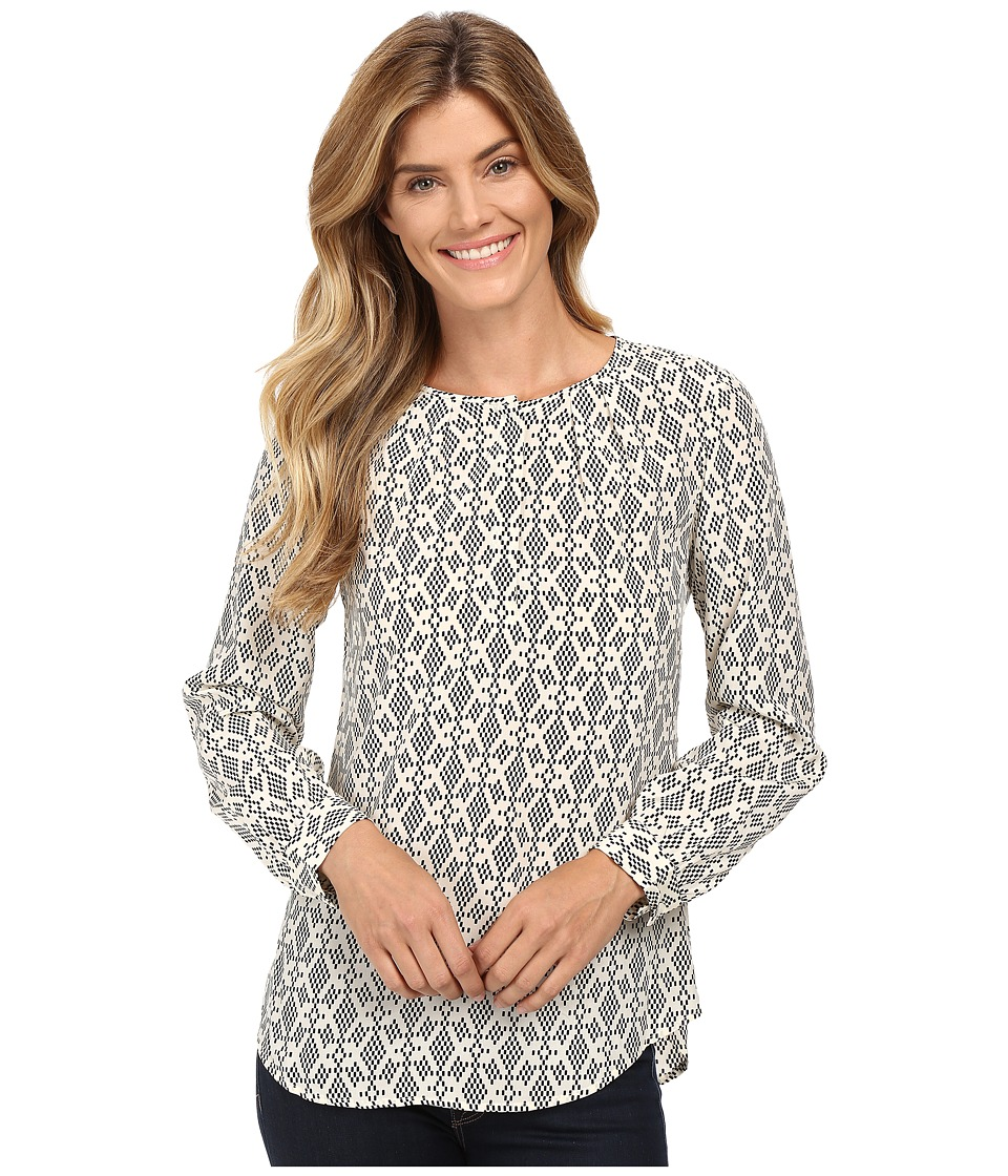 Pendleton - Kelly Tunic (Ivory/Black Print) Women's Blouse