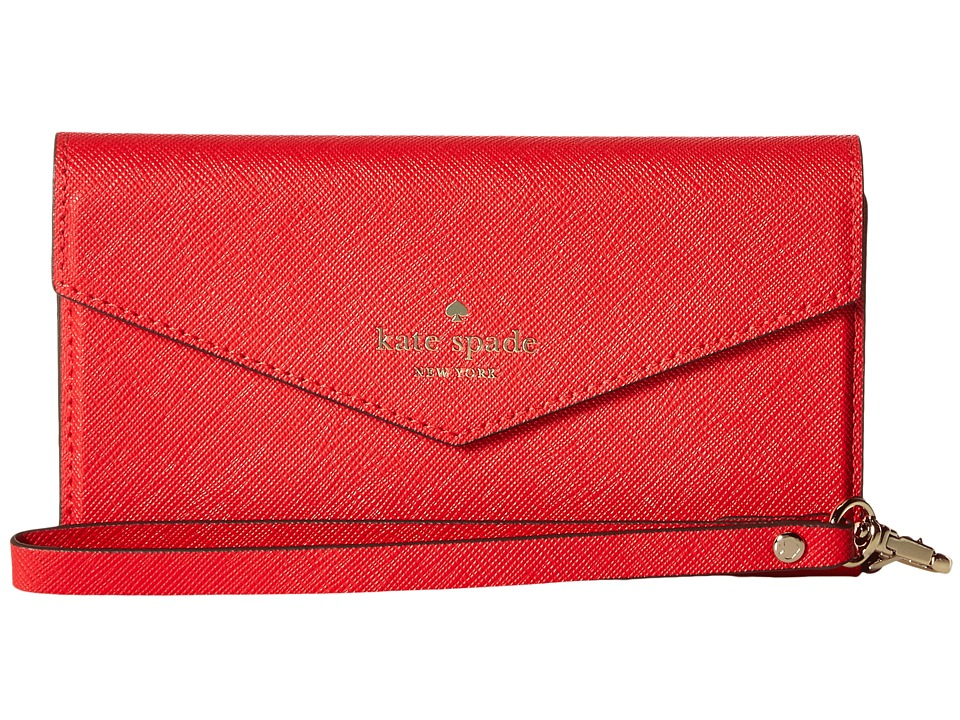 Kate Spade New York - Envelope Wristlet Phone Case for iPhone 7 (Rooster Red) Cell Phone Case