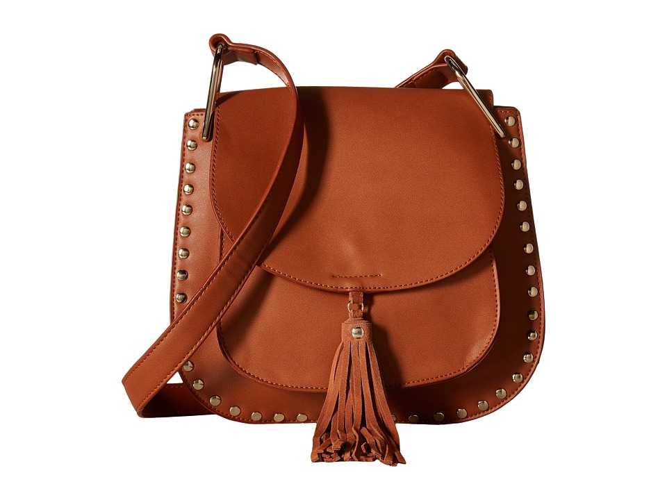 Gabriella Rocha - Rosalina Saddle Purse with Tassel (Tan) Handbags