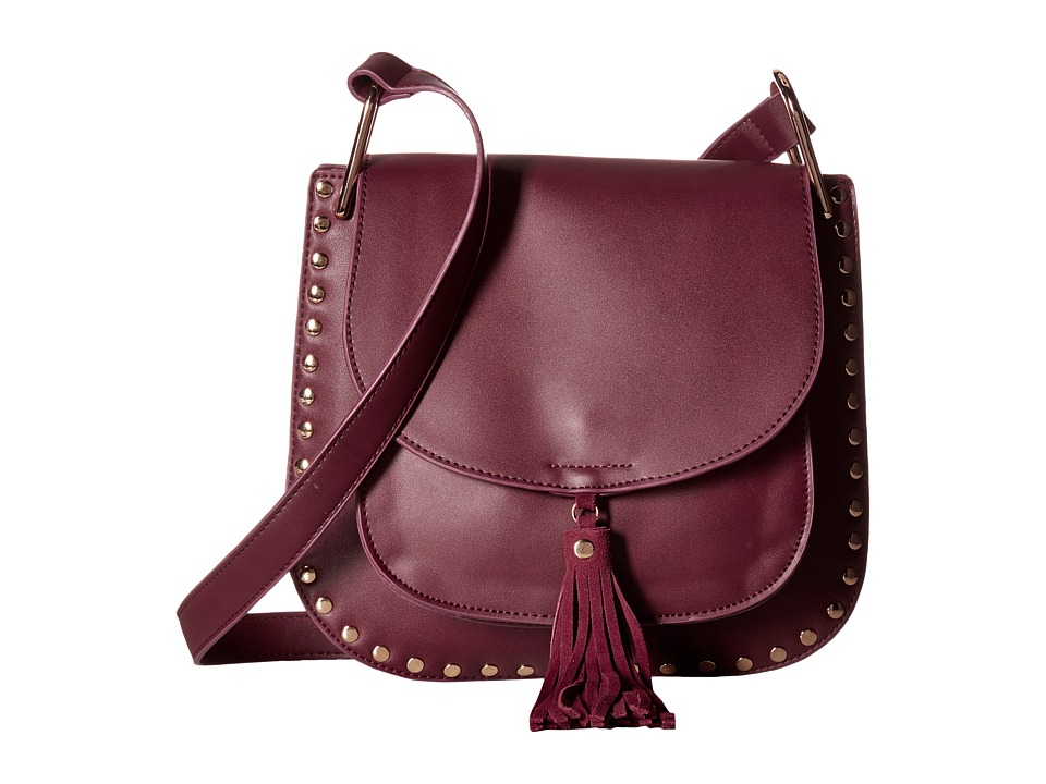 Gabriella Rocha - Rosalina Saddle Purse with Tassel (Burgundy) Handbags