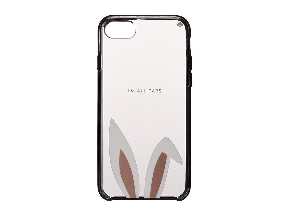 Kate Spade New York - I Am All Ears Phone Case for iPhone 7 (Black Multi) Cell Phone Case