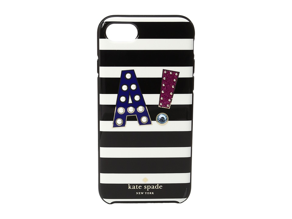 Kate Spade New York - Initial A Phone Case for iPhone 7 (Multi) Cell Phone Case