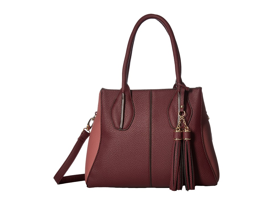 Gabriella Rocha - Mikelle Satchel Purse (Plum/Dusty Pink) Satchel Handbags