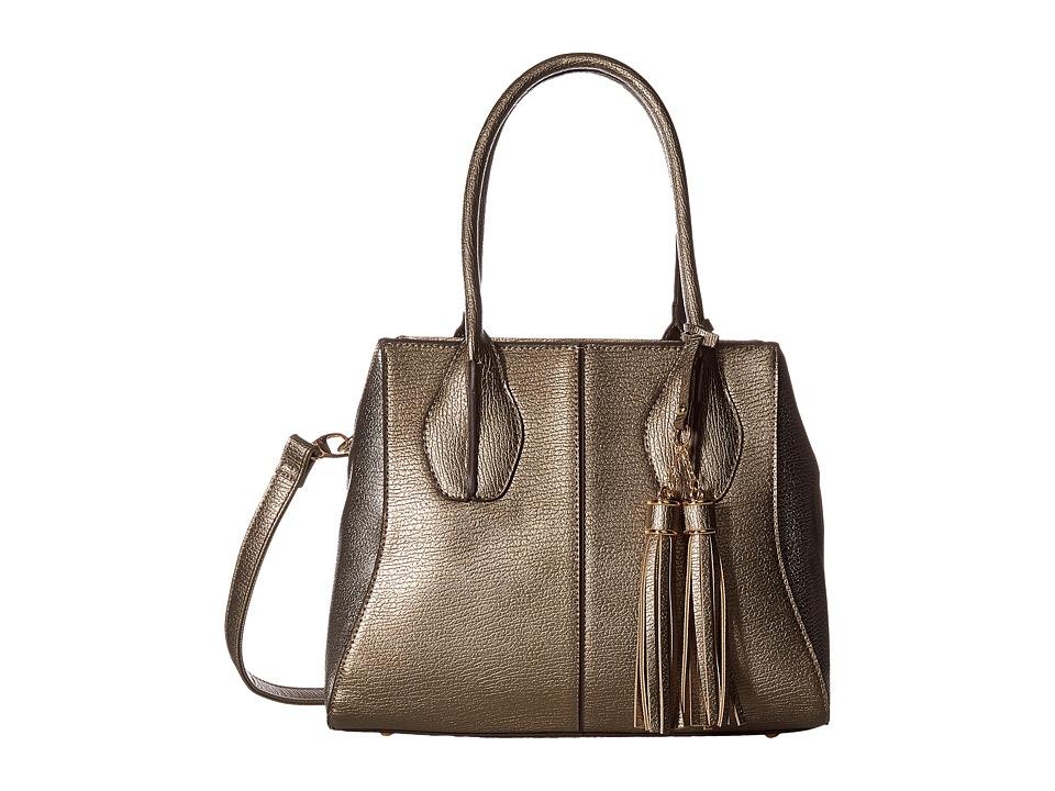 Gabriella Rocha - Mikelle Satchel Purse (Pewter/Champagne) Satchel Handbags
