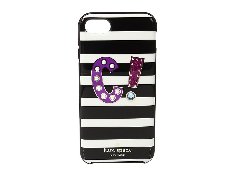 Kate Spade New York - Initial C Phone Case for iPhone 7 (Multi) Cell Phone Case