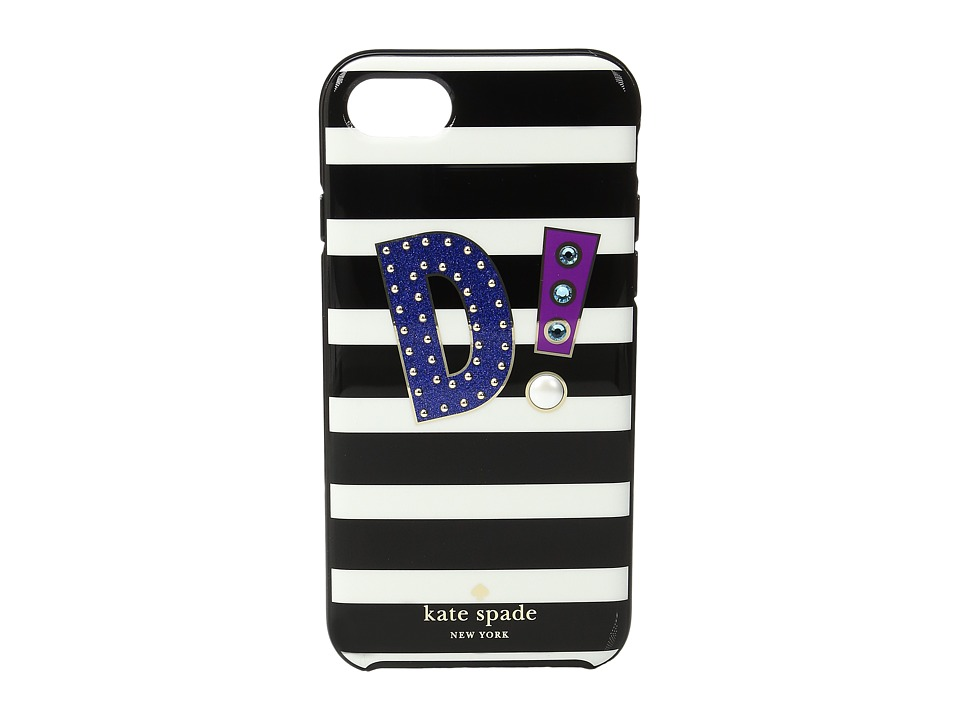 Kate Spade New York - Initial D Phone Case for iPhone(r) 7 (Multi) Cell Phone Case