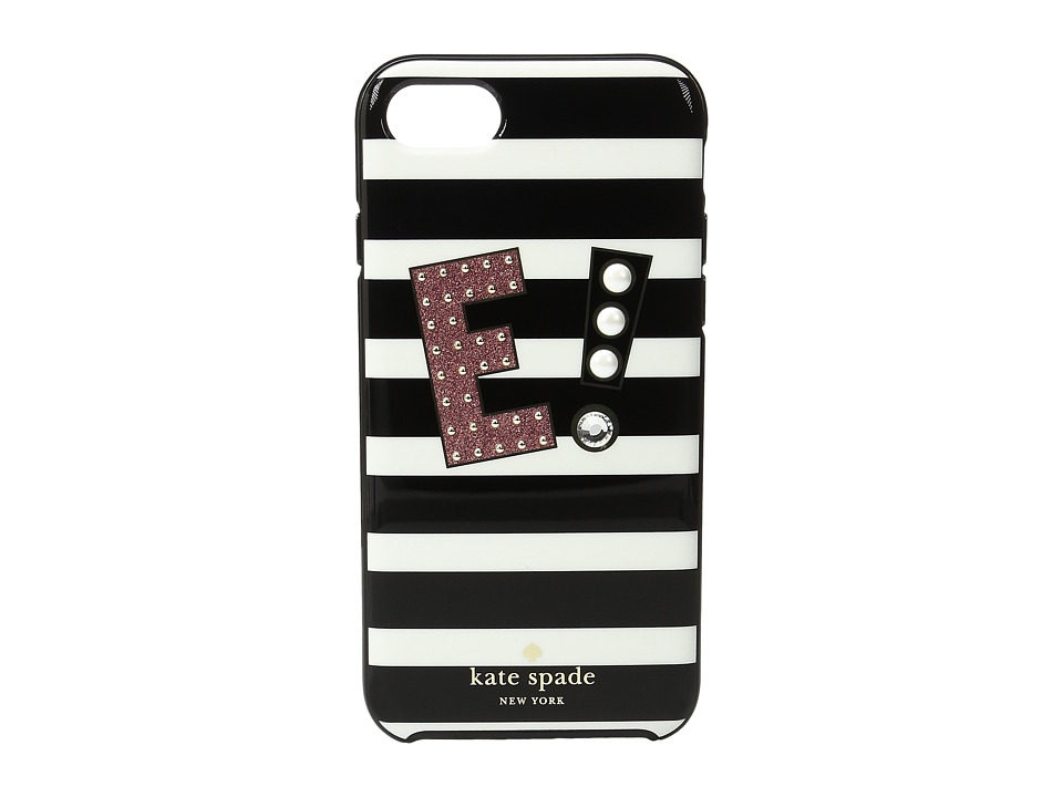 Kate Spade New York - Initial E Phone Case for iPhone(r) 7 (Multi) Cell Phone Case