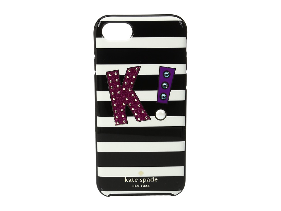 Kate Spade New York - Initial K Phone Case for iPhone 7 (Multi) Cell Phone Case