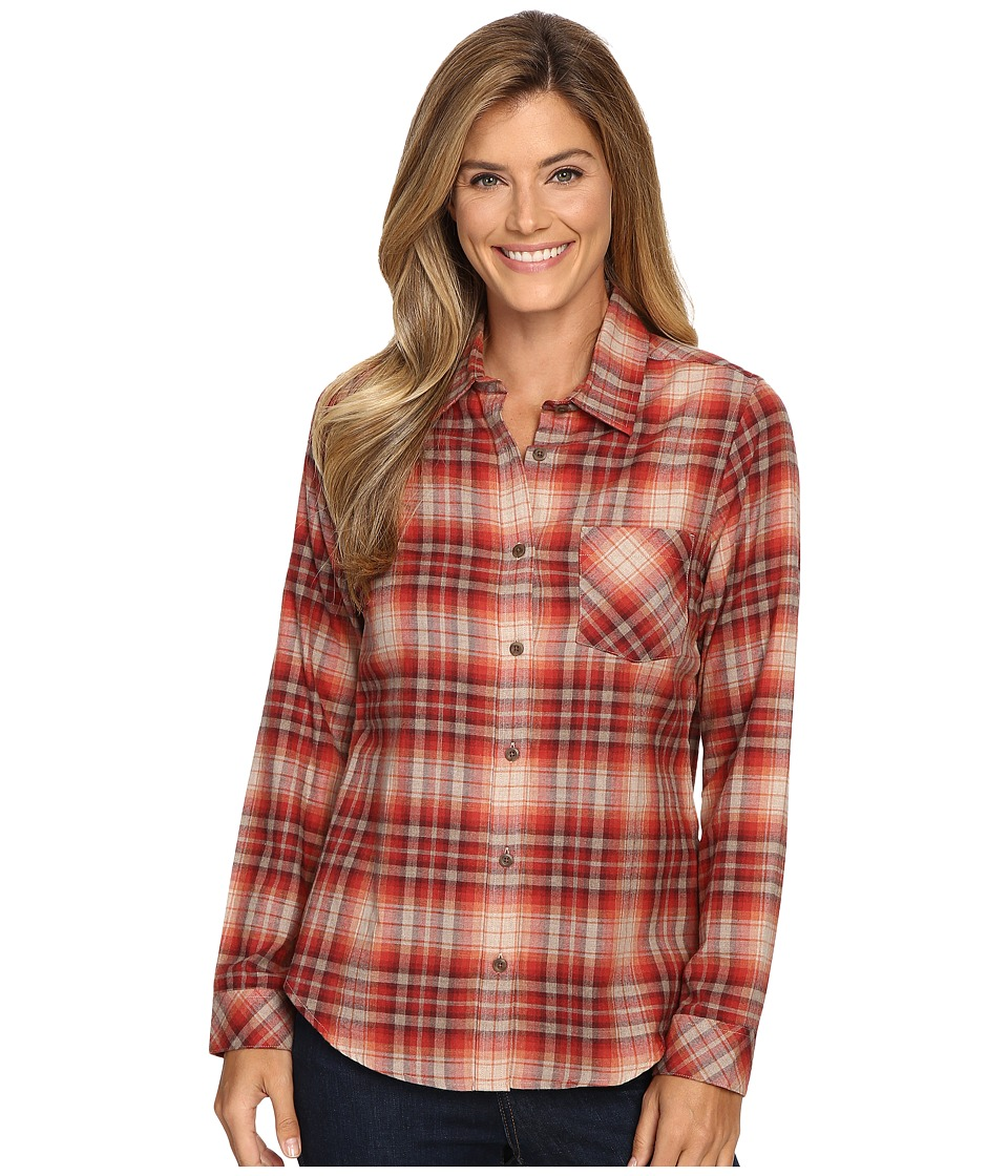 Pendleton - Frankie Flannel Shirt (Rosewood Heather Plaid) Women's Clothing