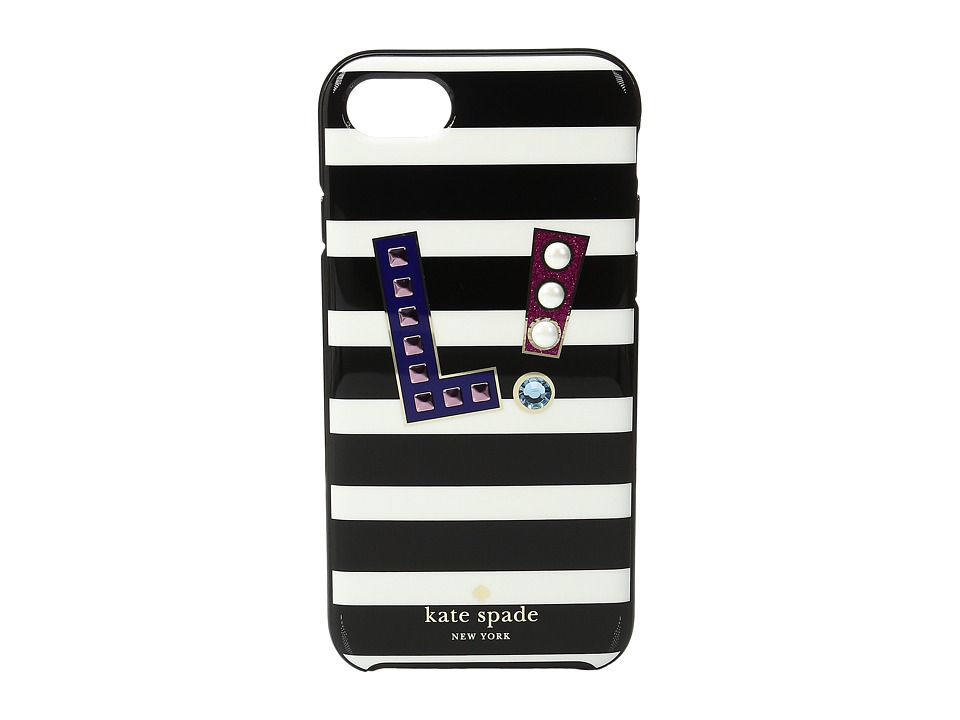 Kate Spade New York - Initial L Phone Case for iPhone 7 (Multi) Cell Phone Case