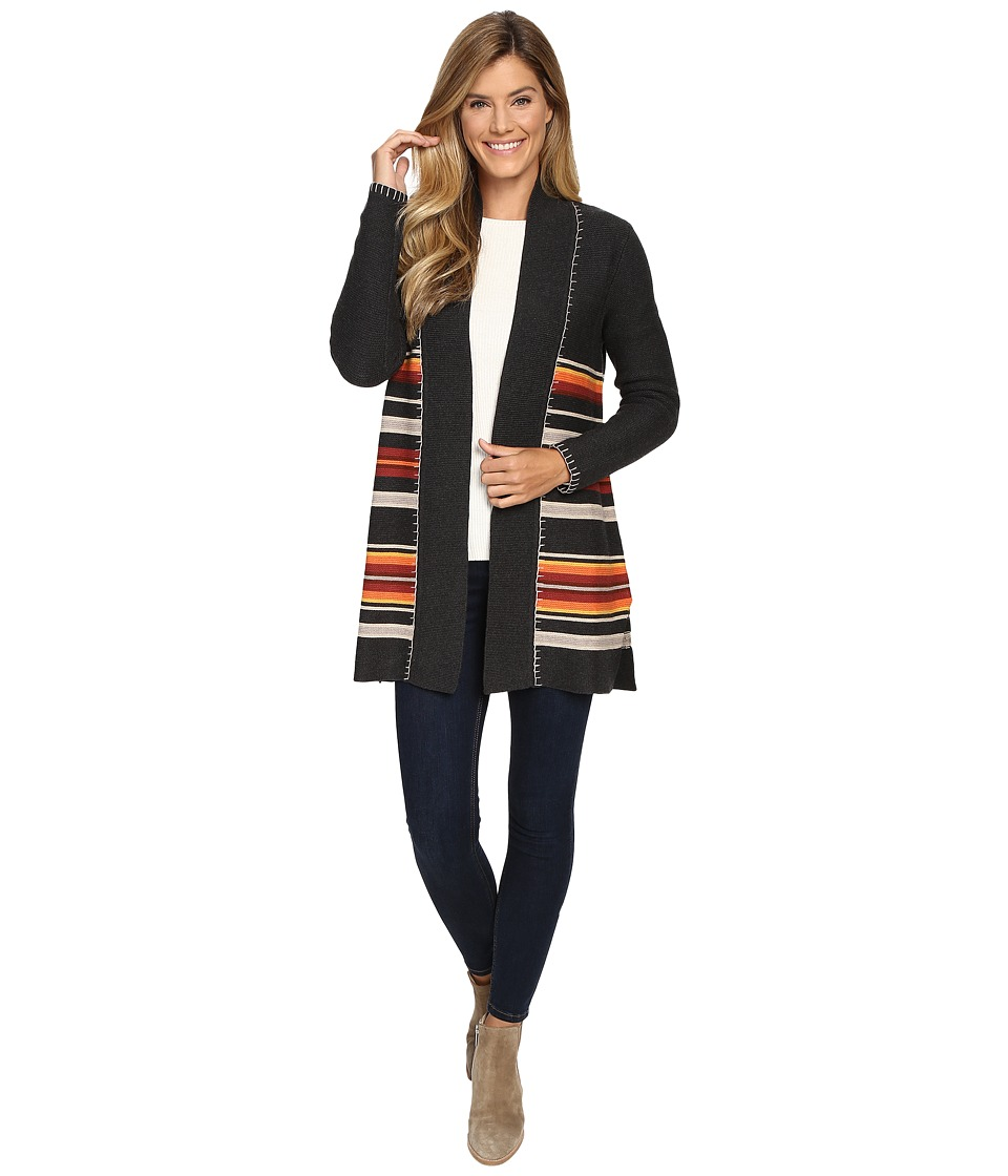 Pendleton - Park Stripe Cardigan (Charcoal Heather Multi) Women's Sweater