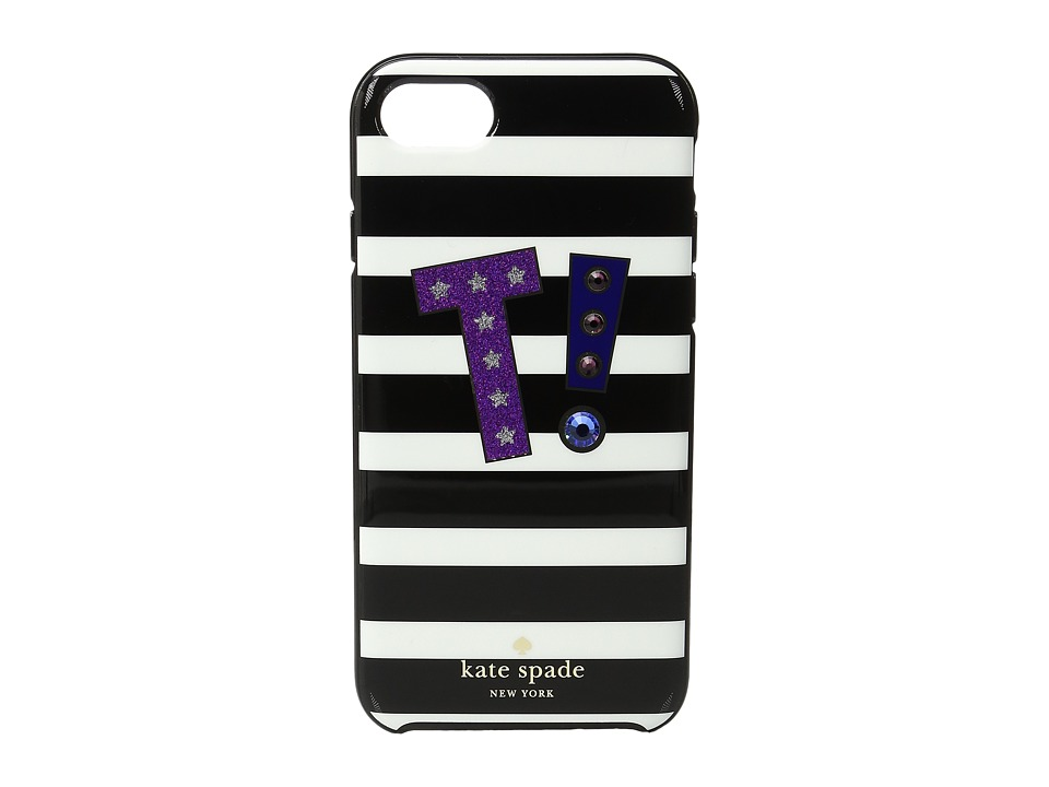 Kate Spade New York - Initial T Phone Case for iPhone 7 (Multi) Cell Phone Case