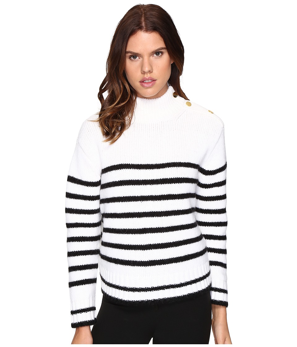 Kate Spade New York - Stripe Alpaca Sweater (Black/Cream) Women's Sweater