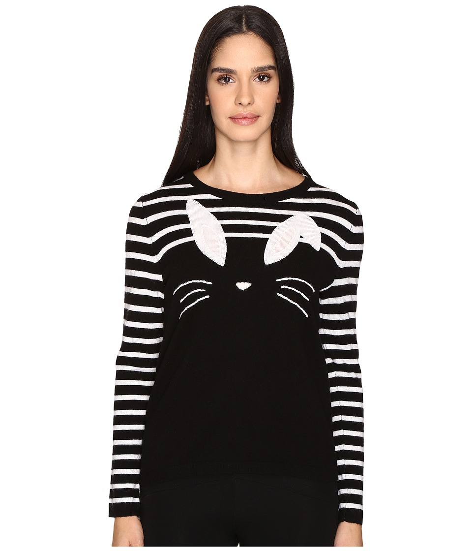 Kate Spade New York - Bunny Sweater (Black/Cream) Women's Sweater