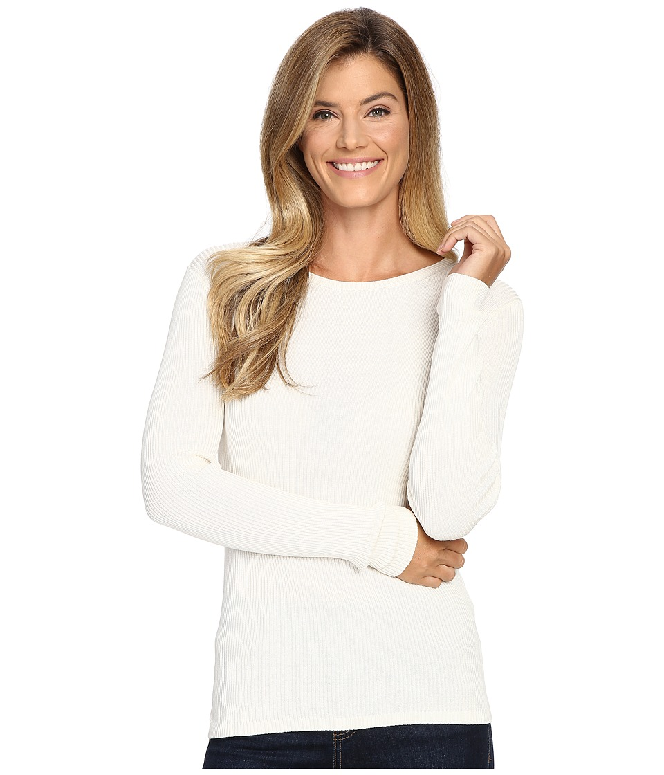 Pendleton - Rib Jewel Neck Pullover (Ivory) Women's Clothing