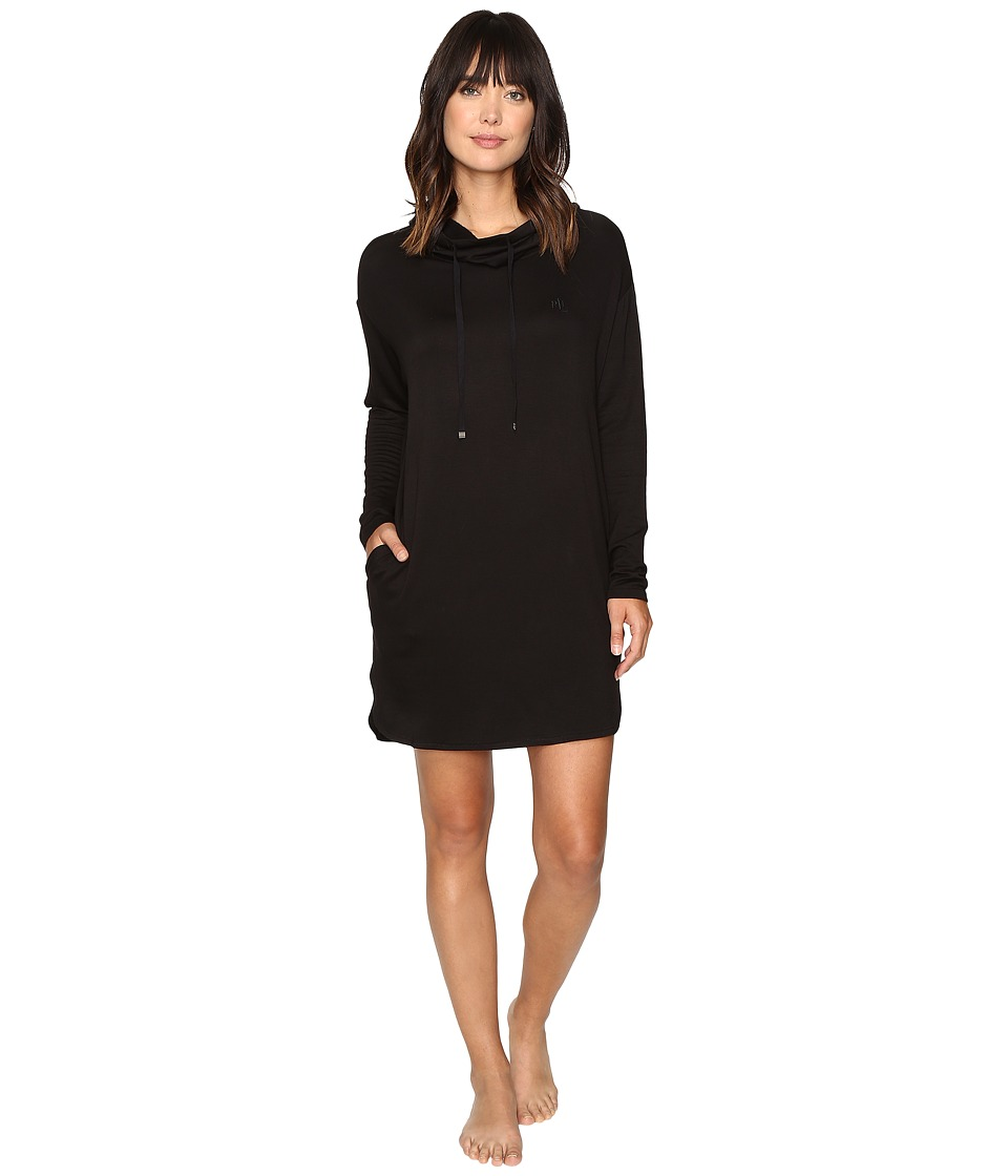 LAUREN Ralph Lauren - Lounge Lounger Nightgown (Black) Women's Pajama