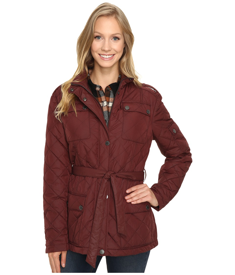 Pendleton - Quilted Coat (Wine) Women's Coat