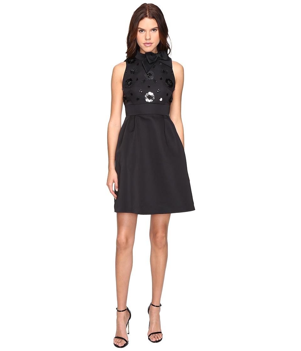 Kate Spade New York - Embellished Structured Dress (Black) Women's Dress