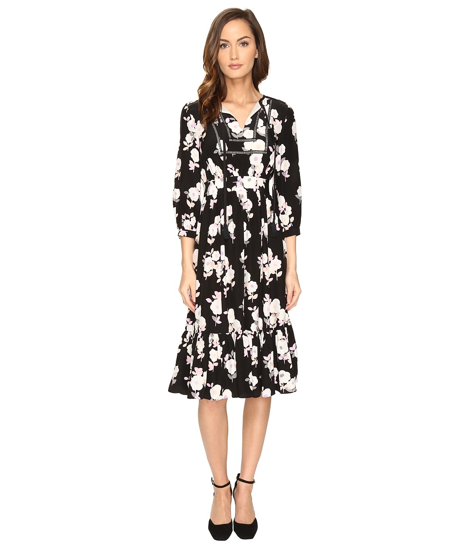 Kate Spade New York Posy Floral Silk Dress