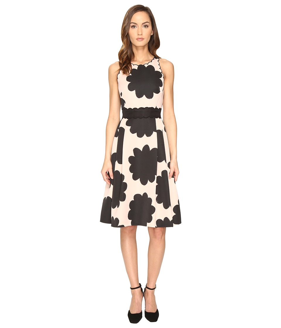 Kate Spade New York - Petal Stamp Dress (Au Naturel) Women's Dress