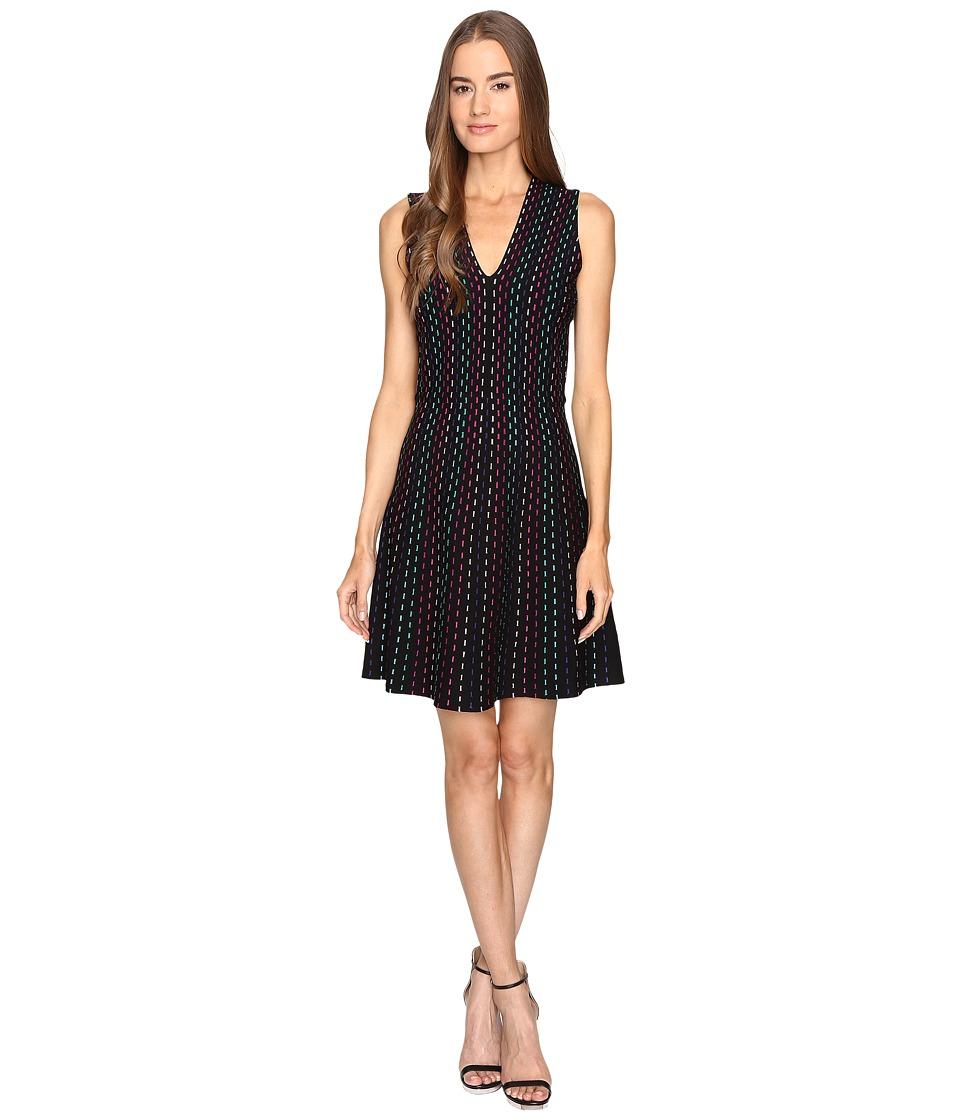 Kate Spade New York Stripe Sweater Dress (Black Multi) Women