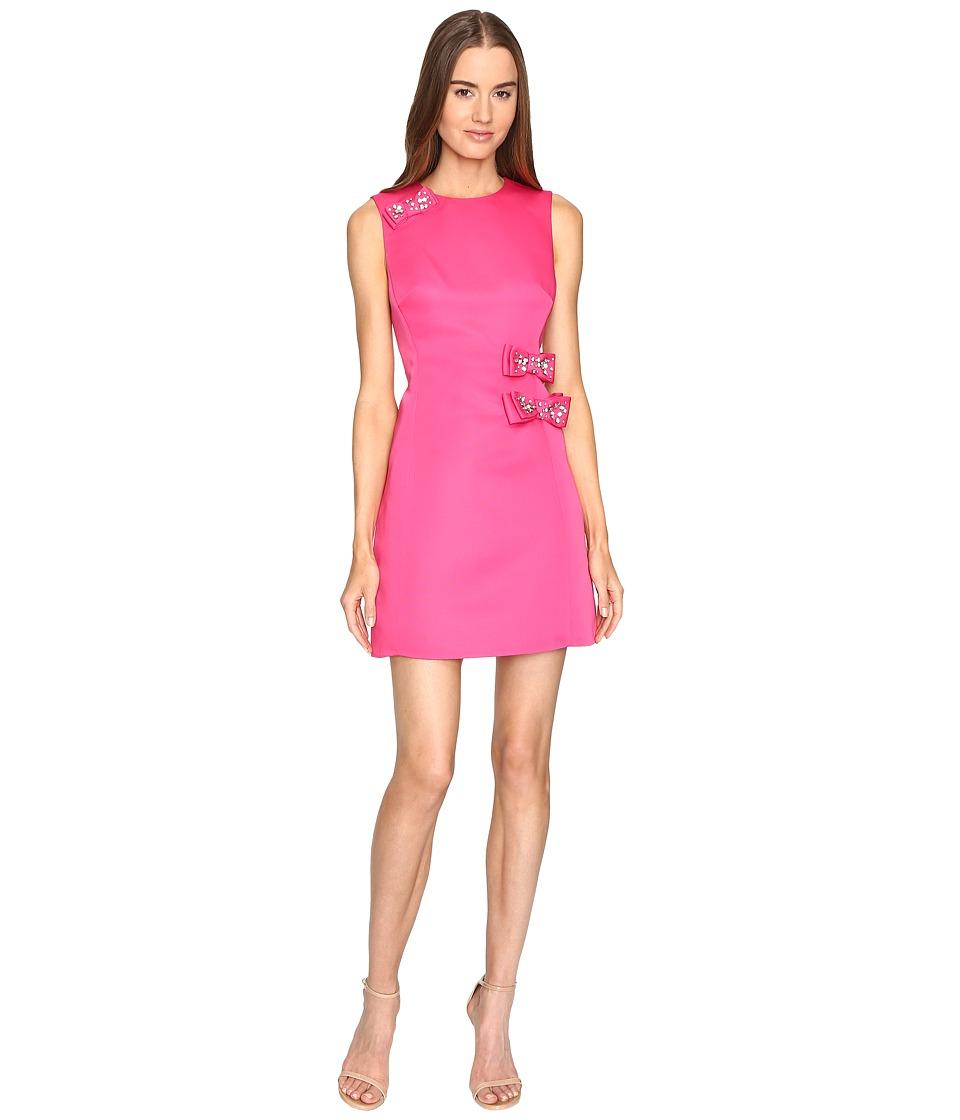 Kate Spade New York - Embellished Bow A-Line Dress (Cabaret Pink) Women's Dress