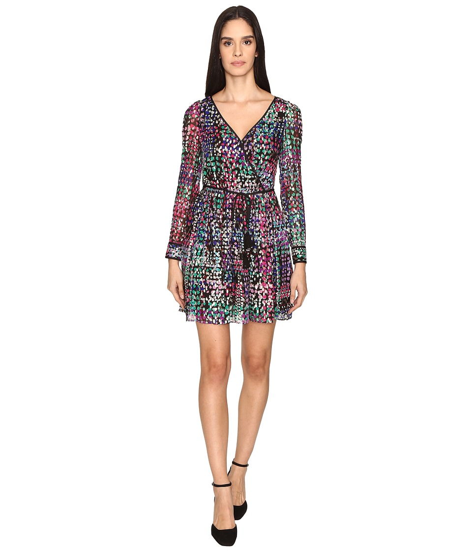 Kate Spade New York - Metallic Multi Dot Mini Dress (Black Multi) Women's Dress